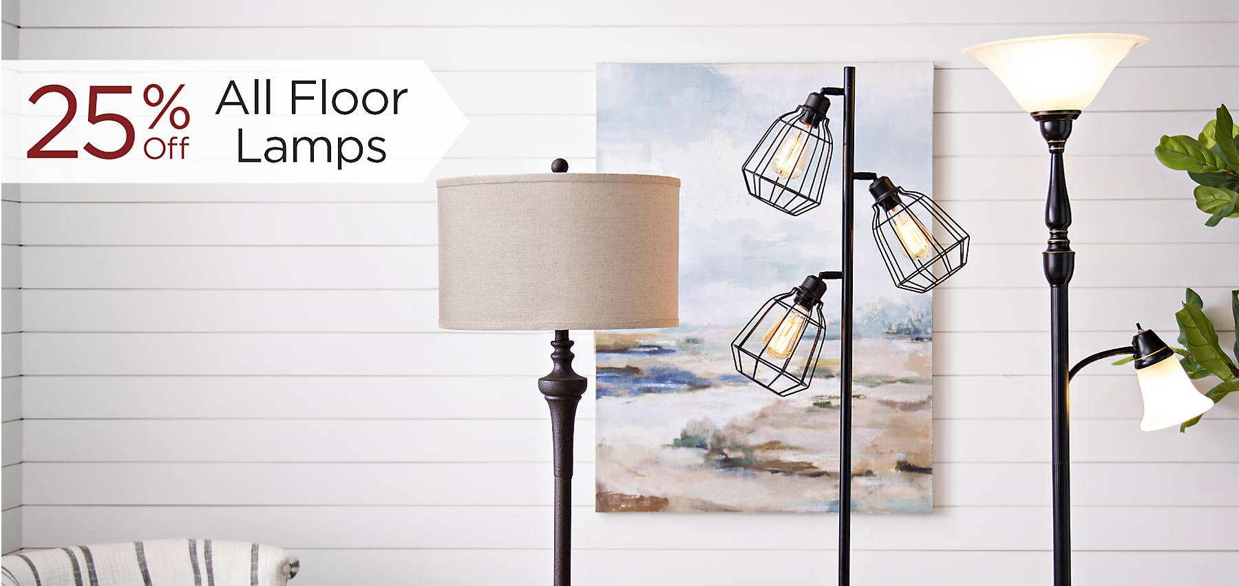 25% Off All Floor Lamps