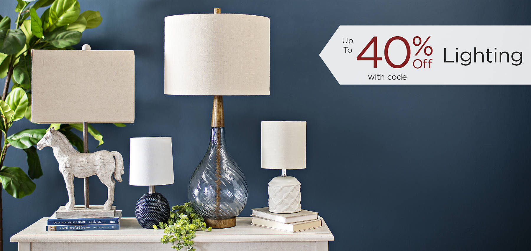 Up to 40% Off Lighting with code