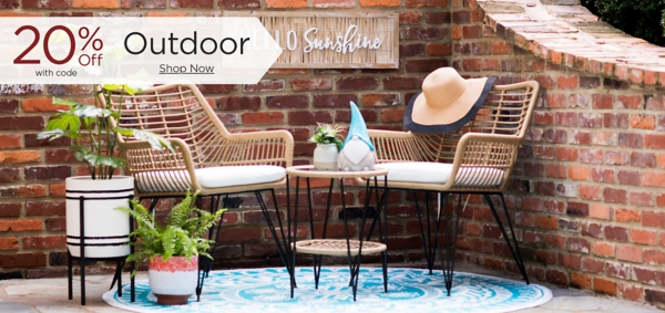 20% Off Outdoor with code Shop Now