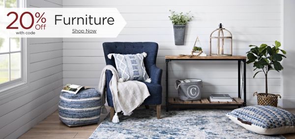 20% Off Furniture with code Shop Now