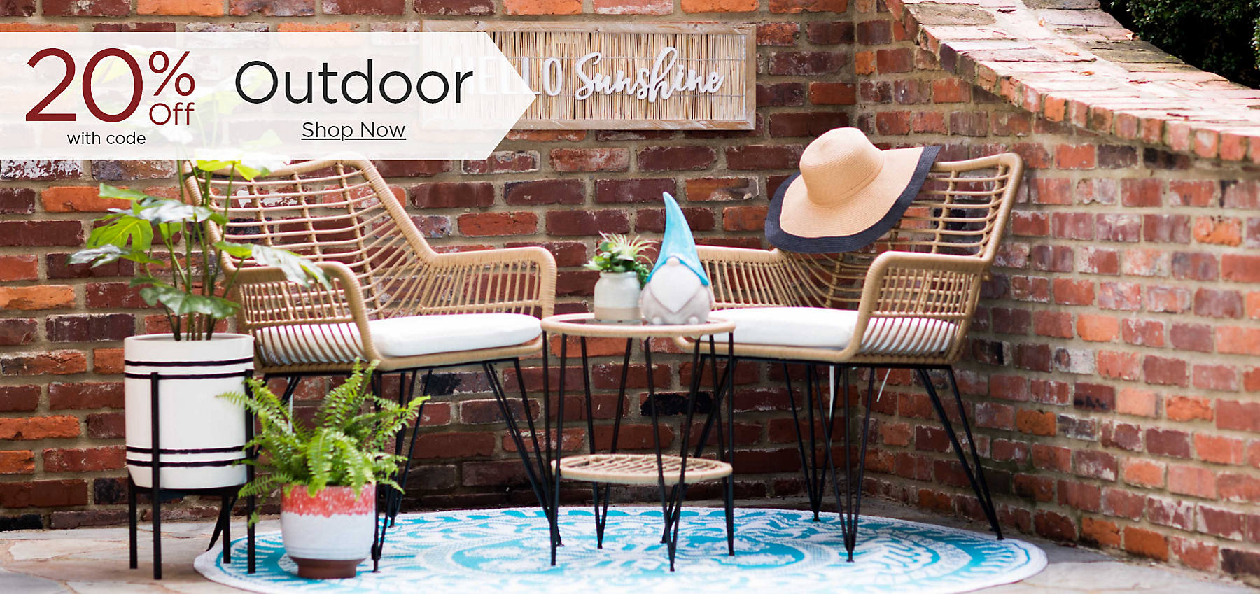 Outdoor 20% Off with code Shop Now