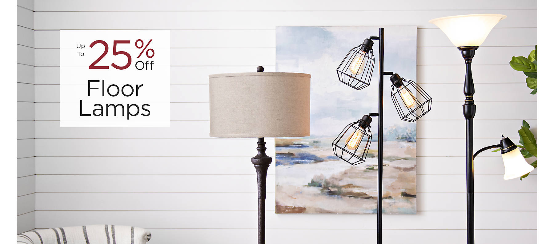 Floor Lamps Up to 25% Off