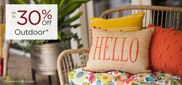 Outdoor Up to 30% Off Excluded from coupon