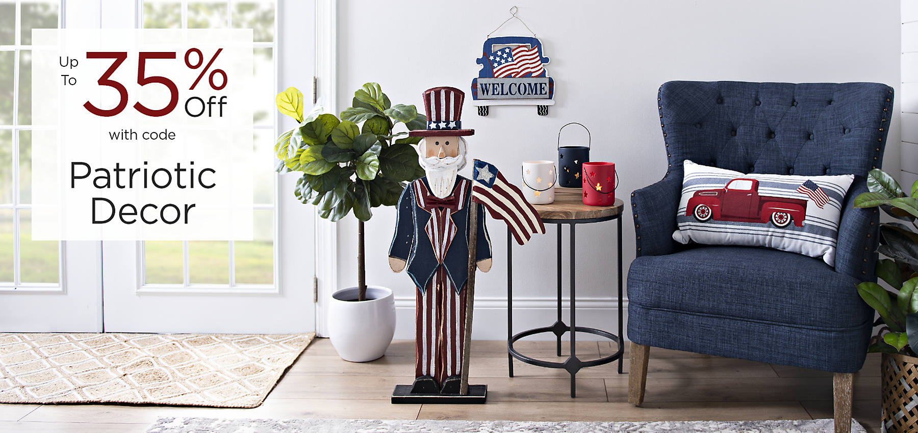 Patriotic Decor Up to 35% Off with code