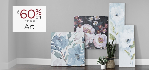 Art Up to 60% Off with code