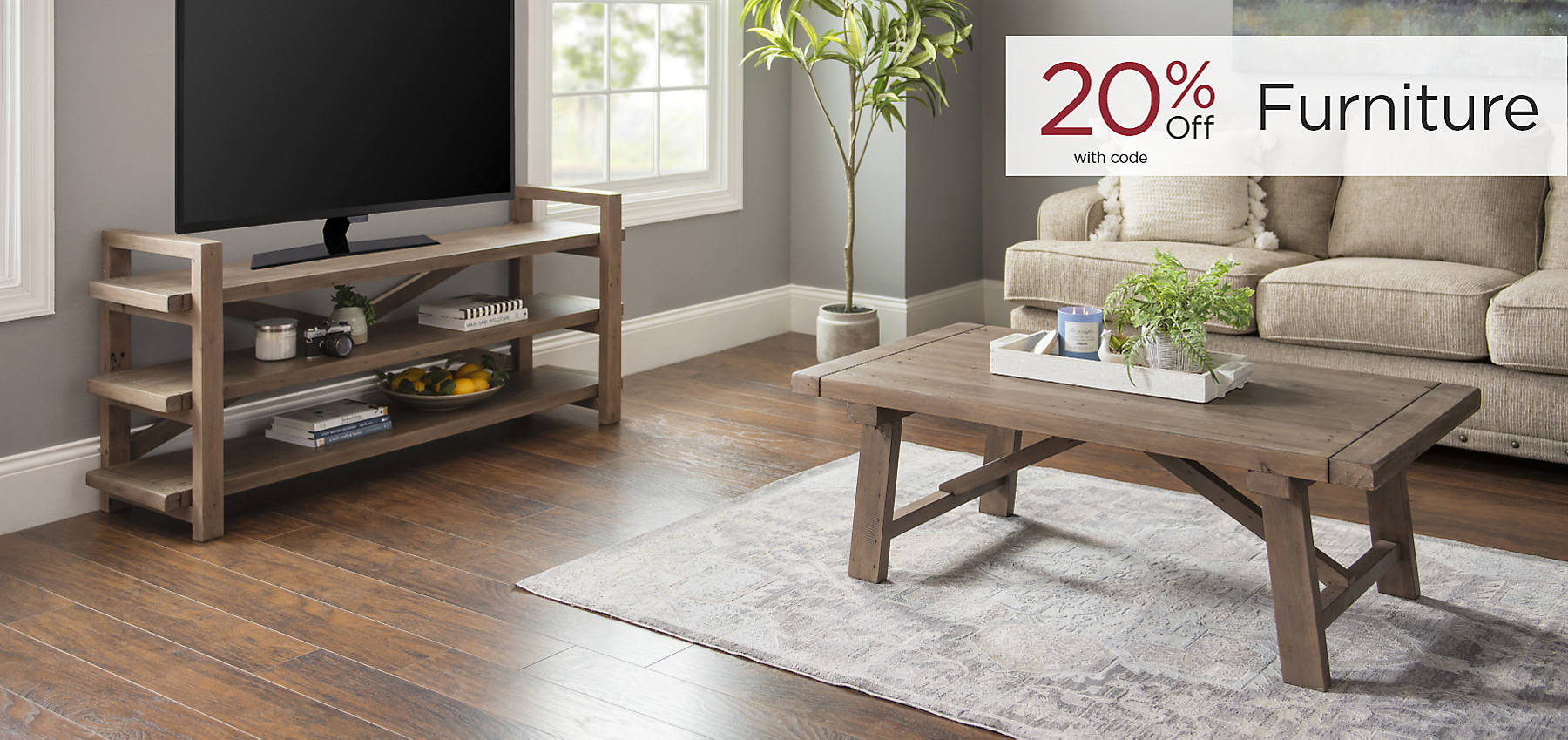 Furniture 20% Off with code