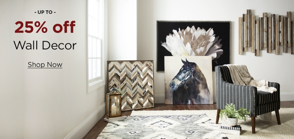 Up to 25% Off Wall Decor for Your Favorite Room