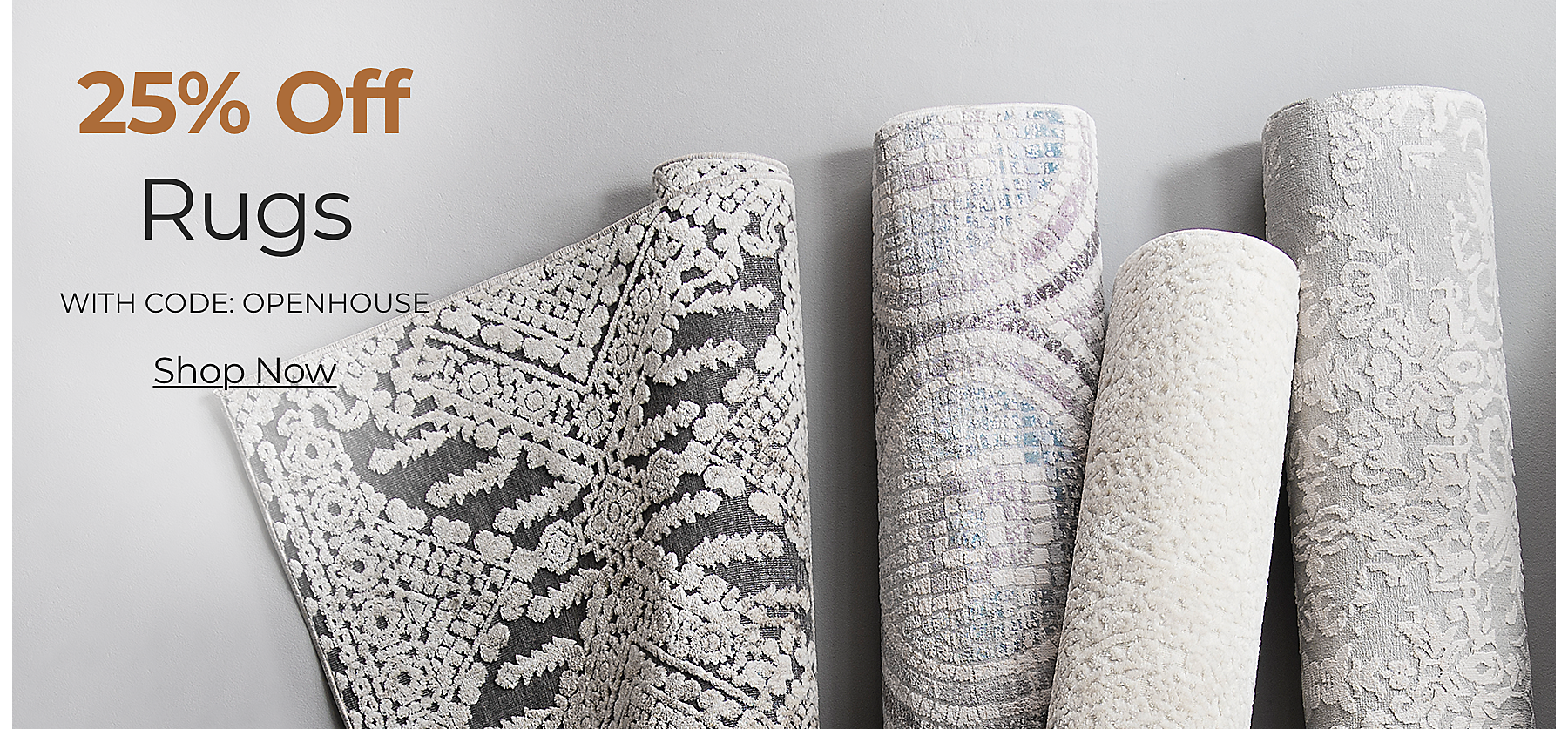 Rugs 25% Off with Code: OPENHOUSE Shop Now