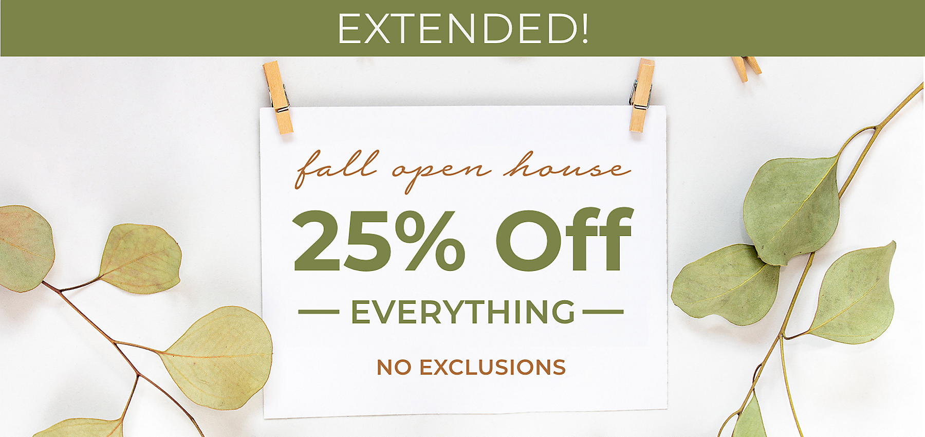 Extended - Fall Open House Sale