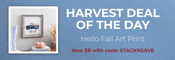 Harvest Deal of the Day Hello Fall Art Print Now $8 with code: STACKNSAVE