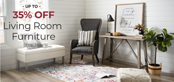 Furniture Up to 35% Off with code: STACKNSAVE