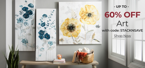 Art Up to 60% Off with code: STACKNSAVE