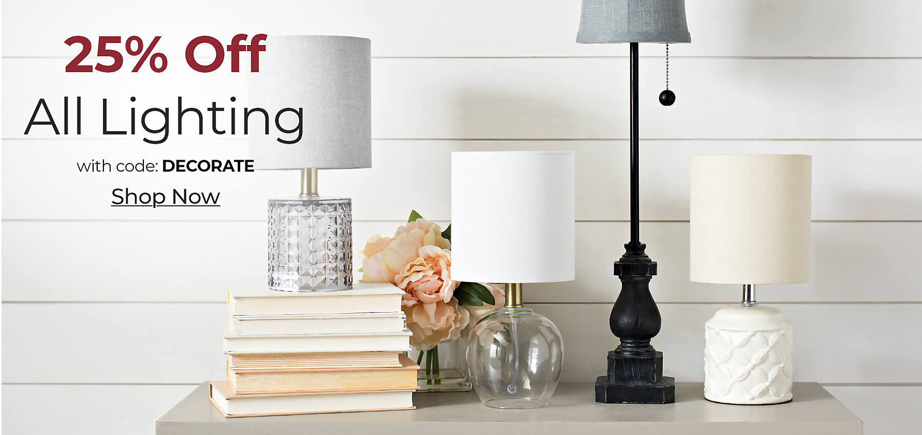 All Lighting 25% off with code DECORATE