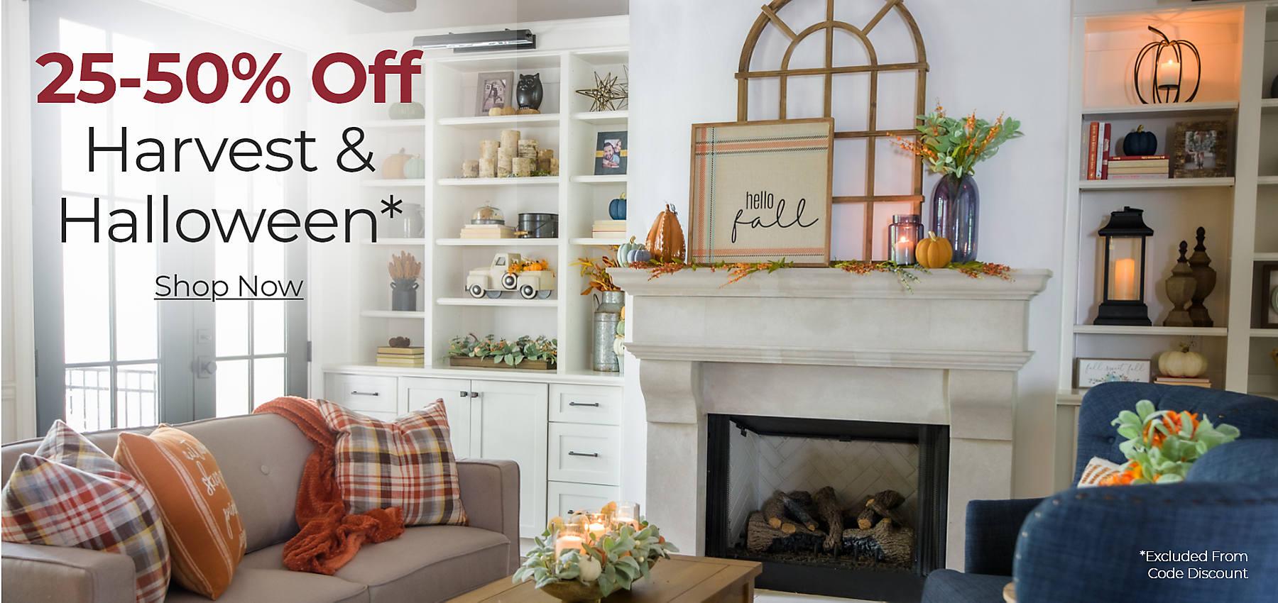 Harvest & Halloween 25 - 50% off