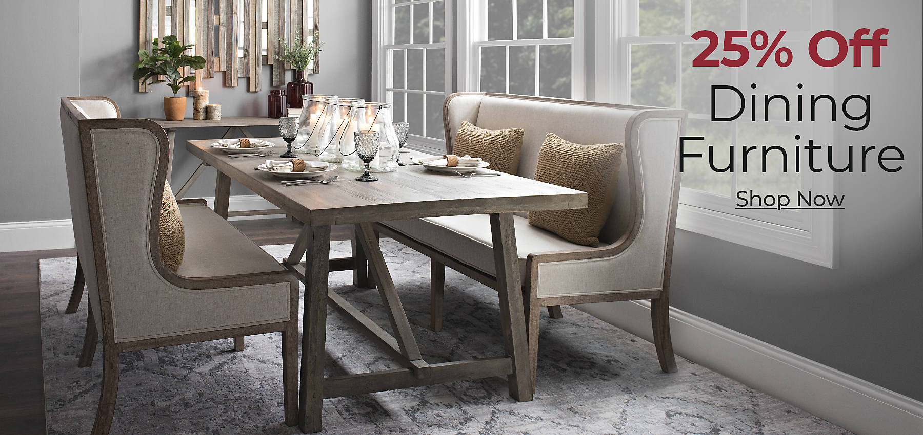Up to 25% Off All Dining Furniture Shop Now