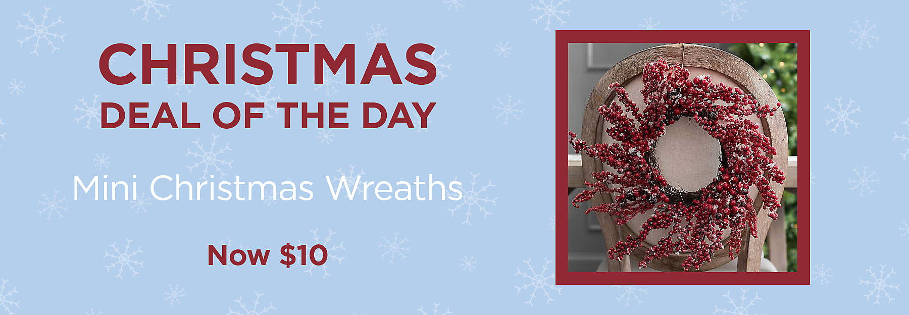 Christmas Deal of the Day Mini Christmas Wreaths Now $10