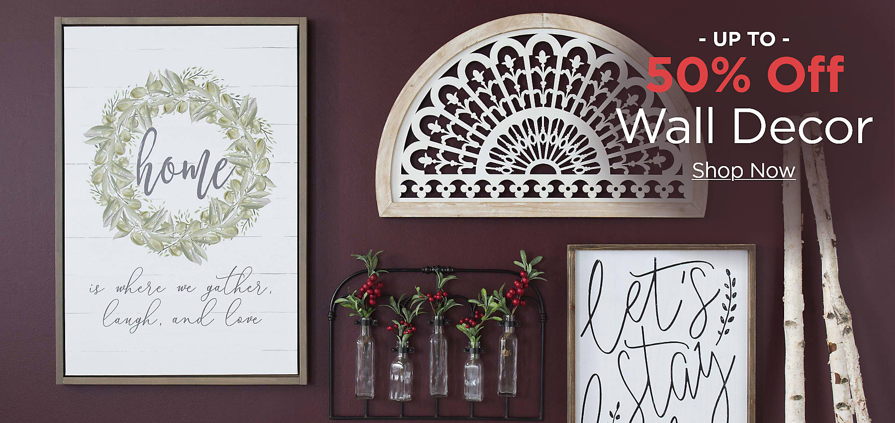 Up to 50% off Wall Decor Shop Now