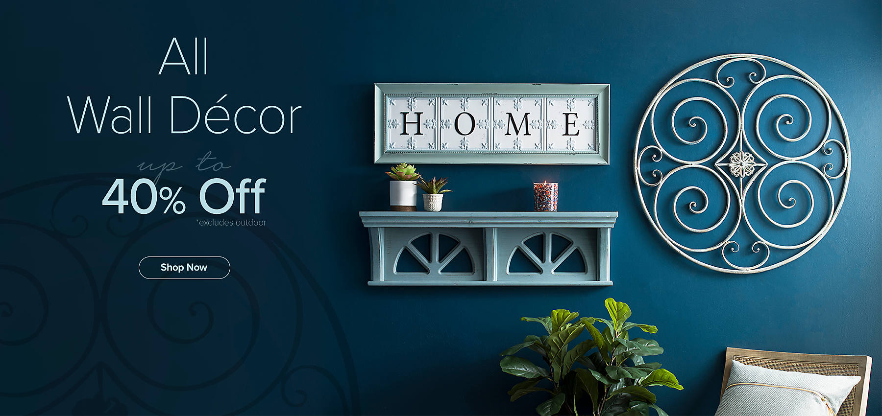 Up to 40% Off Wall Decor - Shop Now