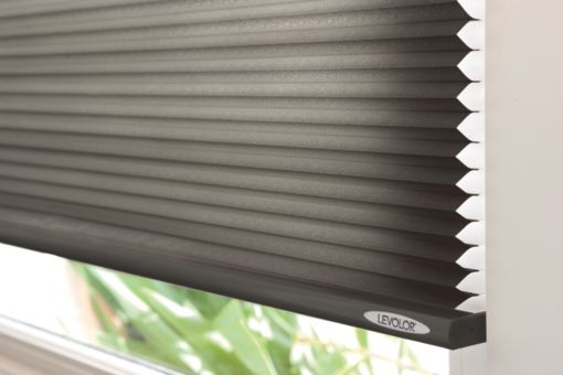 shown levolor custom cellular shades in slate - Levolor Cellular Shades