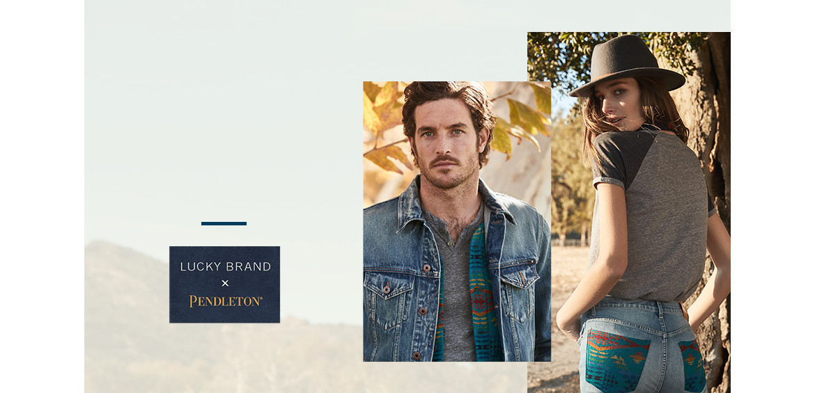 Lucky Brand & Pendleton collaboration shop banner