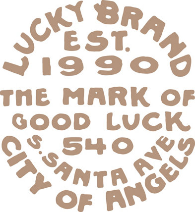 Lucky Brand The Mark of Good Luck Stamp