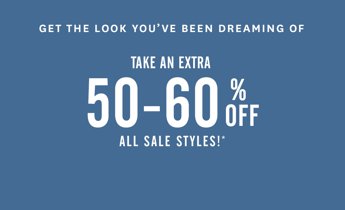 50%-60% Off Sale Styles