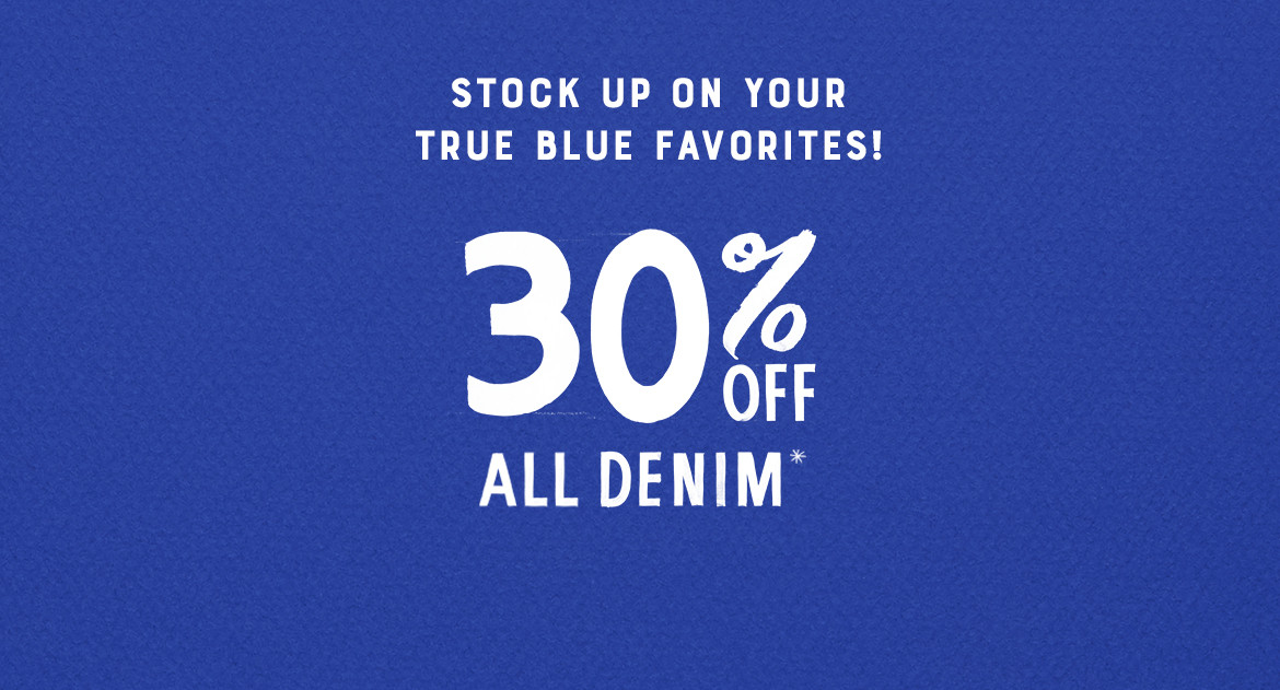 30% Off All Denim