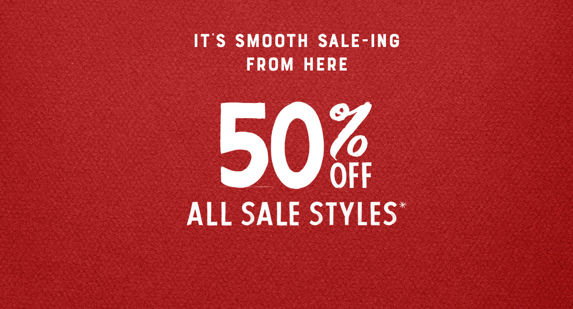 50% Off All Sale Styles