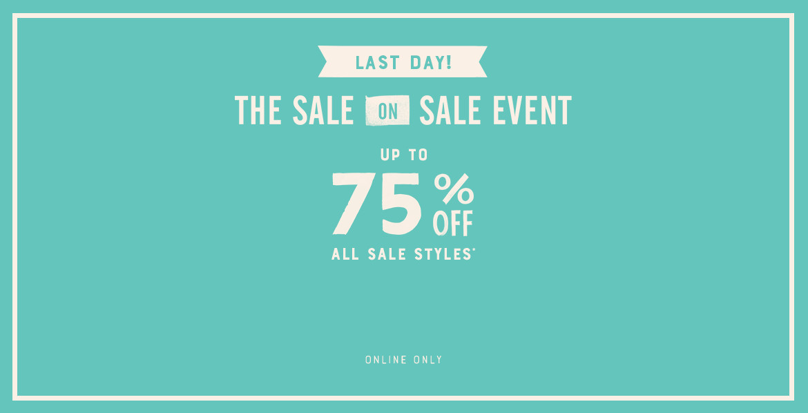 Last Day Up To 75% Off