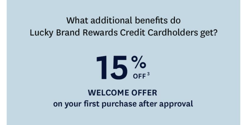 15% Off Welcome Offer on your first purchase after approval.