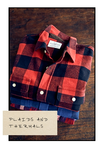 Men's Plaids and Thermals