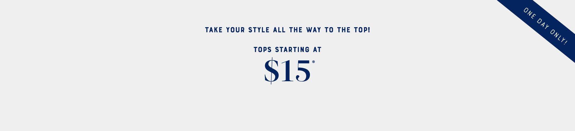 Lucky Day - Tops at $15