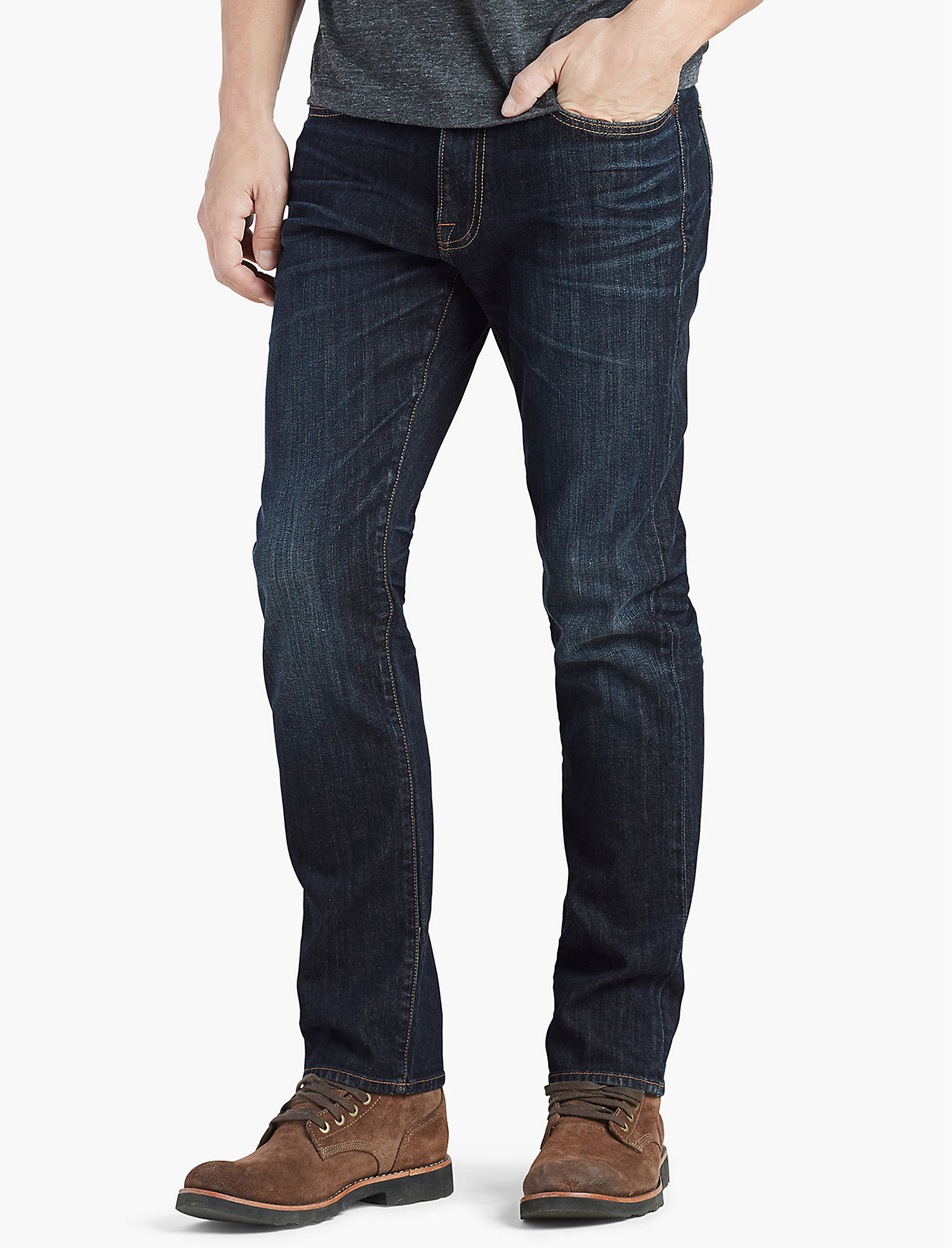 1550f732 Lucky Brand Mens 410 Athletic Slim Jean 42 34 Barite