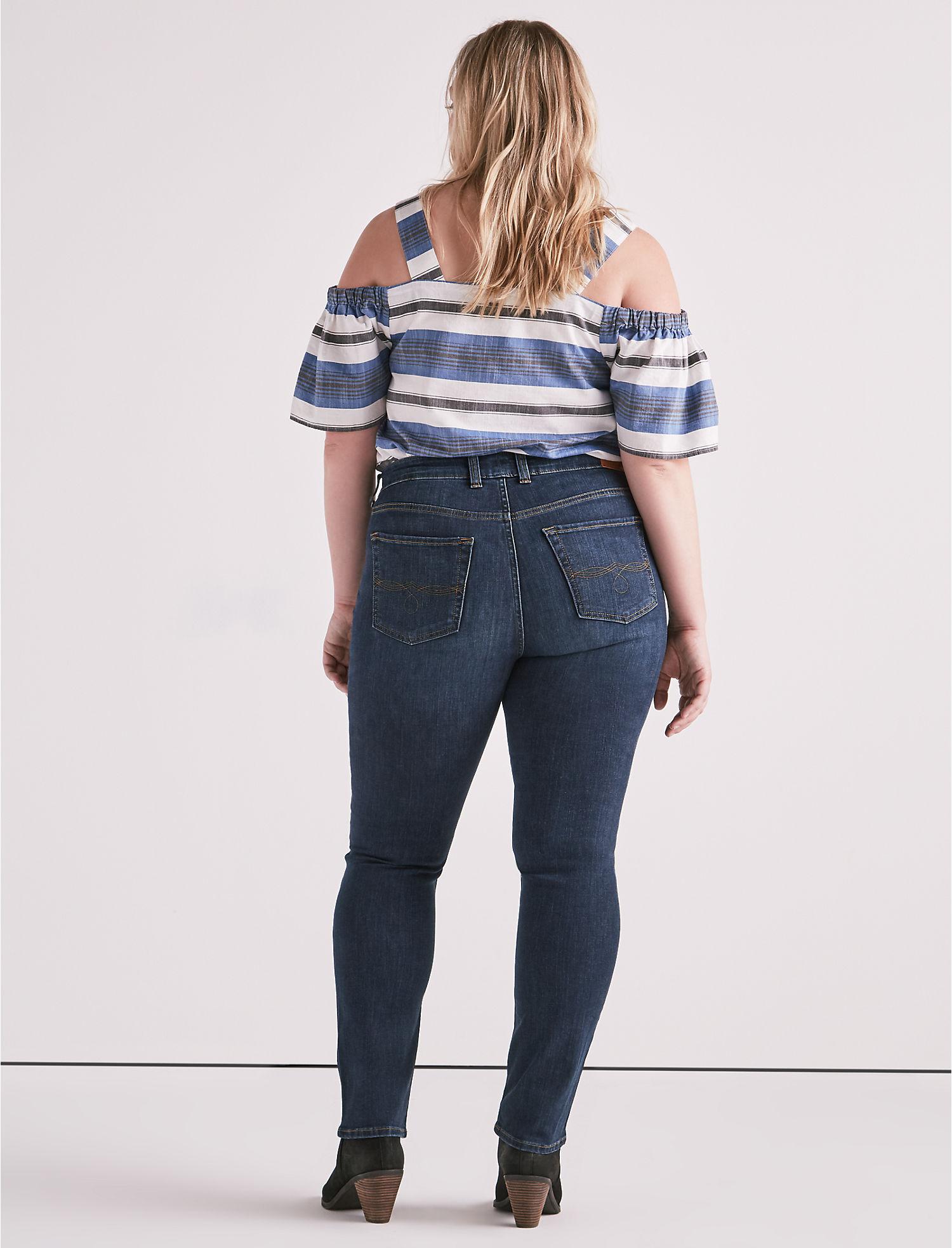af0b86e2105 Lucky Brand Plus Plus Size Emma Straight Leg Jean In Goleta 24W Goleta