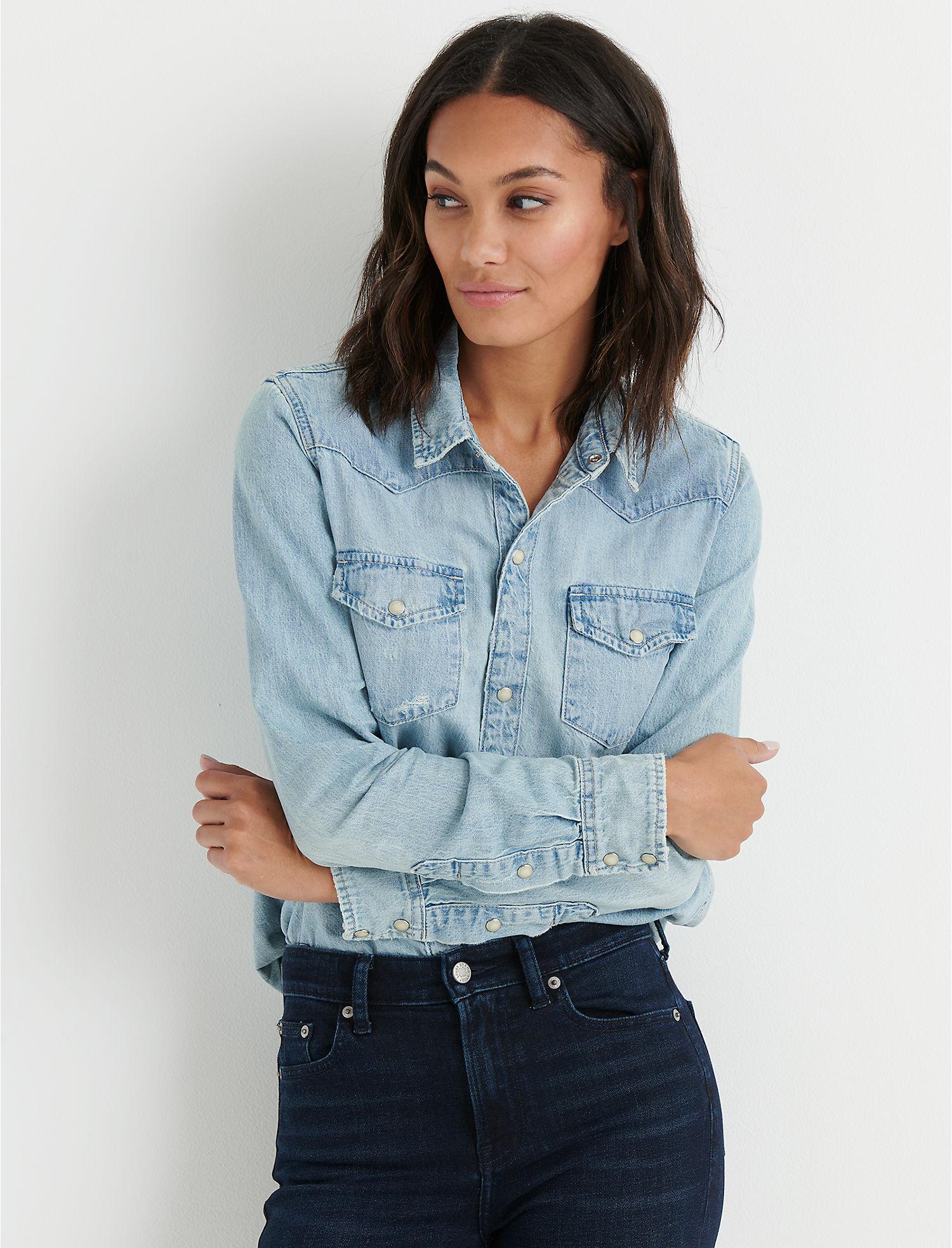a626e413f6 Lucky Brand Womens Western Shirt M Arapaho