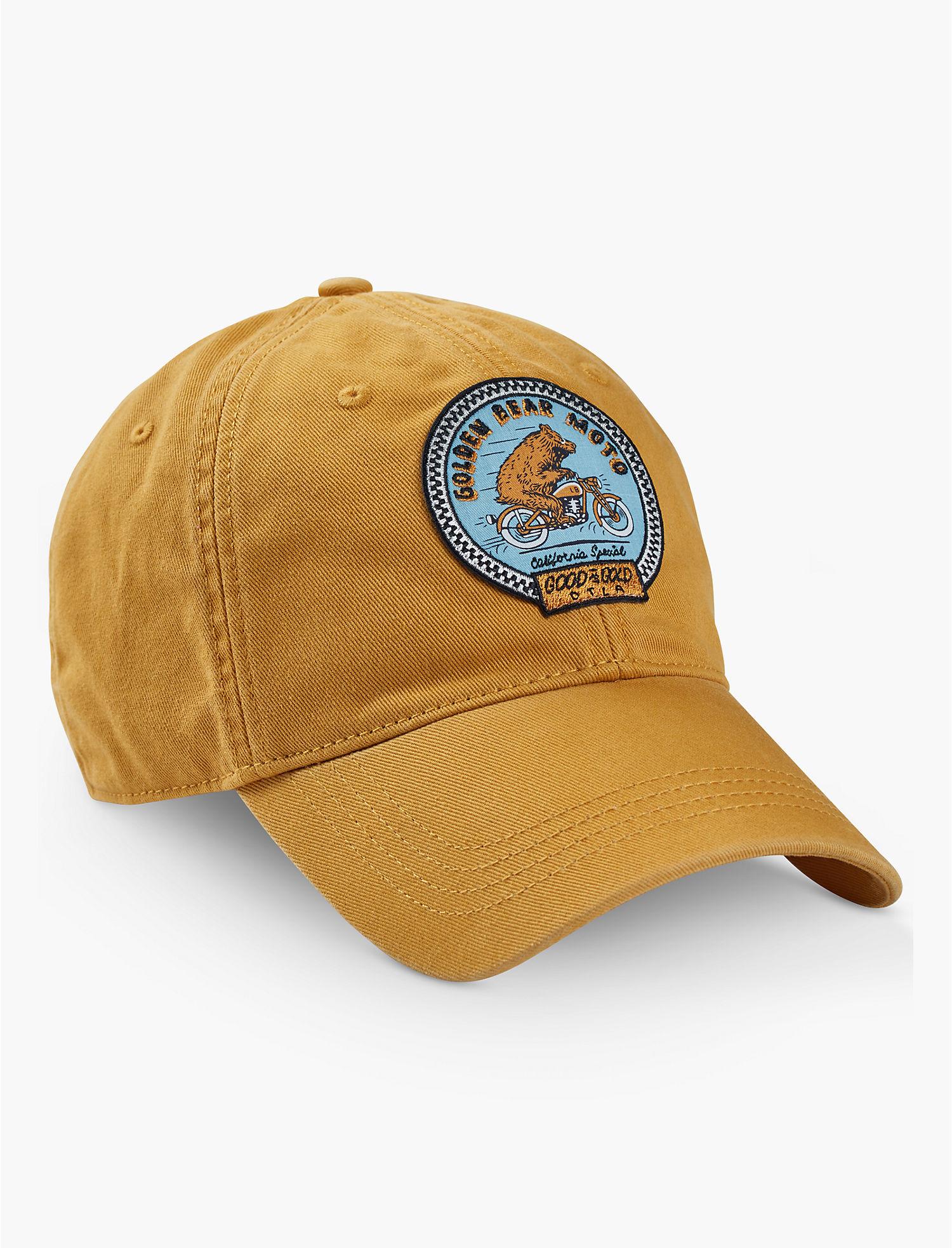 Lucky Brand Moto Bear Baseball Hat Light Yellow 193315166780  8f6cfbe2705