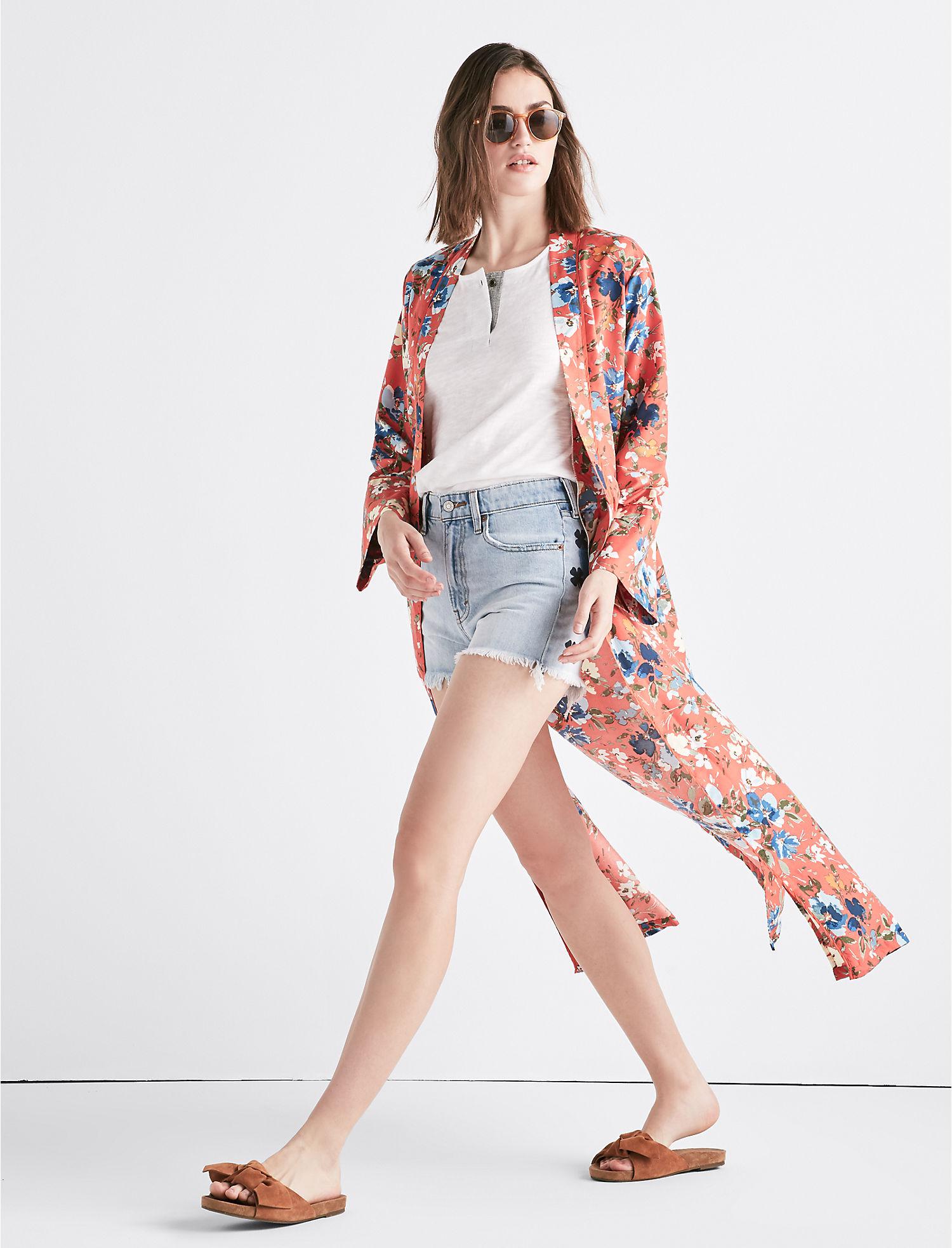 9fb4fb99d Lucky Brand Cypress Floral Kimono Multi 191671556733 | eBay