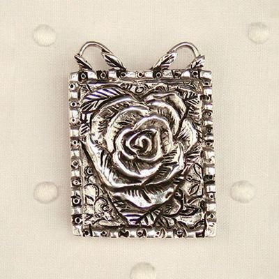 Patience Brewster Rose Heart Pendant