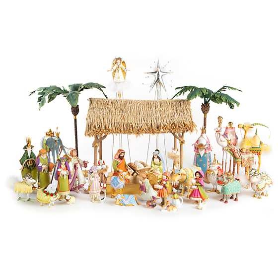 Patience Brewster Nativity Manger Ram Figure image five