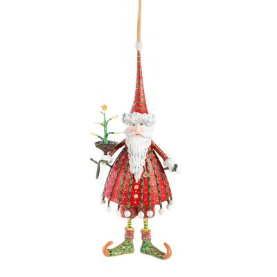 Patience Brewster Dash Away Dashing Santa Ornament