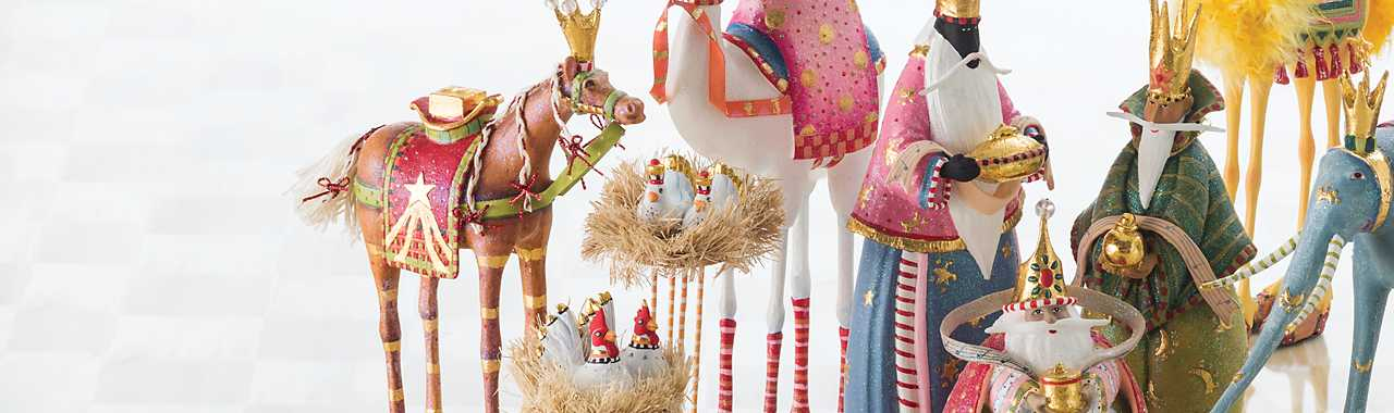 Patience Brewster Nativity Magi Figures Banner Image