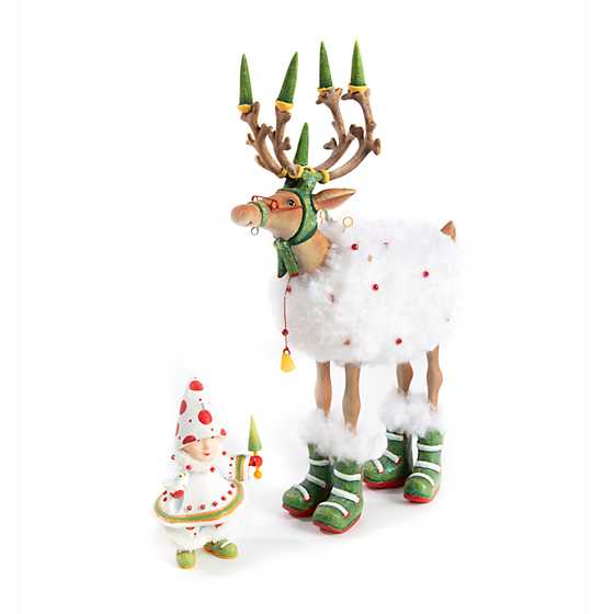 Patience Brewster Dash Away Blitzen Reindeer Figure