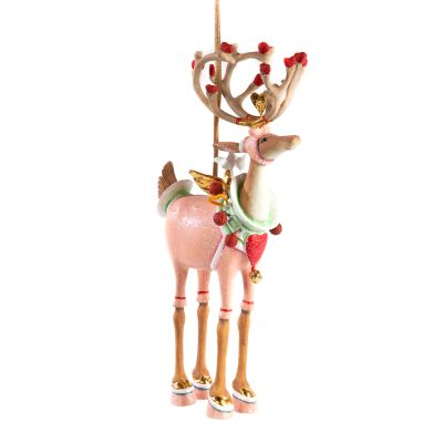 Patience Brewster Dash Away Cupid Reindeer Ornament