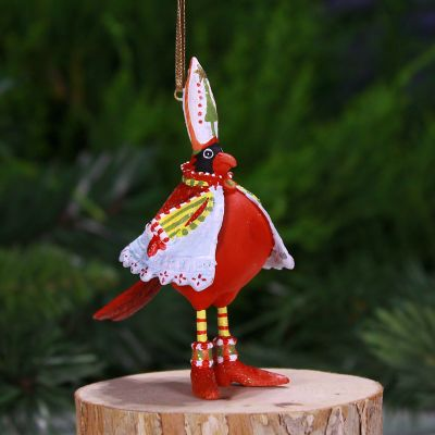 Patience Brewster Cardinal Mini Ornament