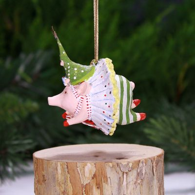 Patience Brewster Joyful Pig Mini Ornament