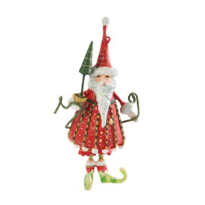 Patience Brewster Dash Away Dashing Santa Mini Ornament