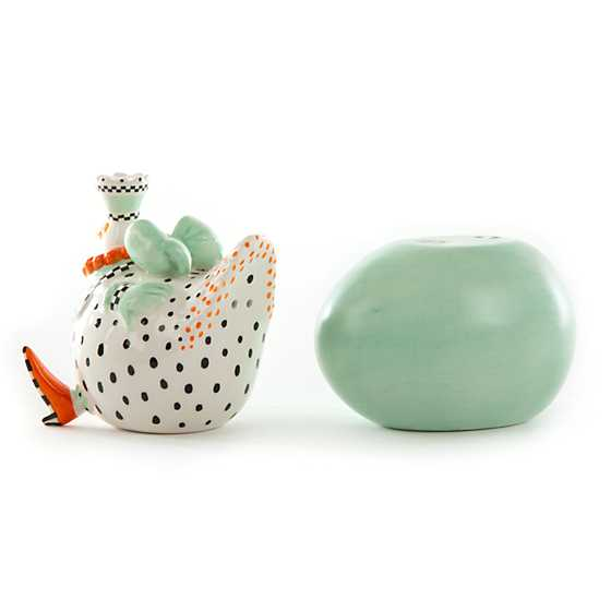 Patience Brewster Speckled Chicken Salt & Pepper Shakers image four