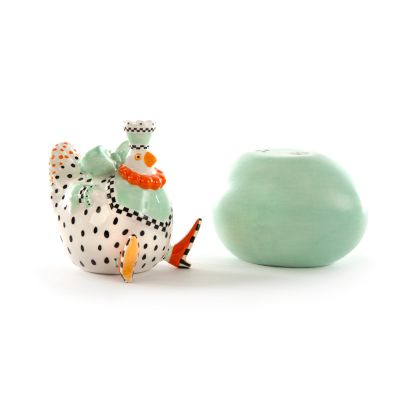 Image for Patience Brewster Speckled Chicken Salt & Pepper Shakers