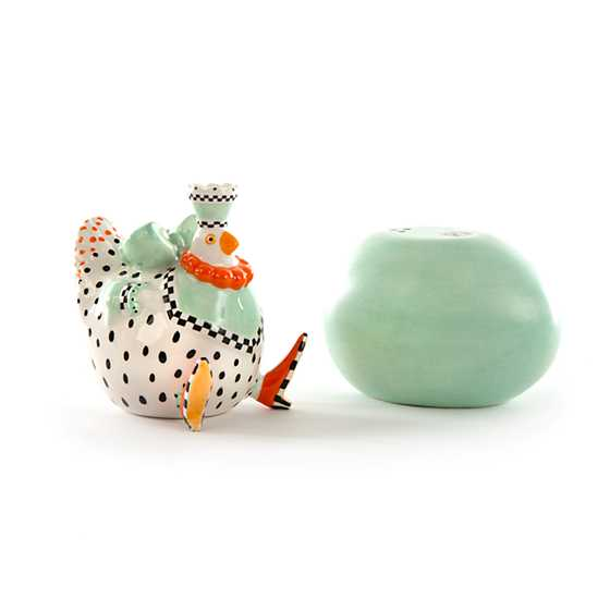 Patience Brewster Speckled Chicken Salt & Pepper Shakers