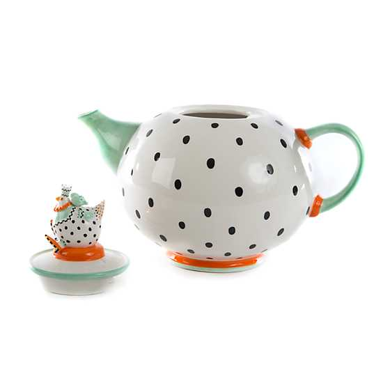 Patience Brewster Speckled Chicken Teapot image four